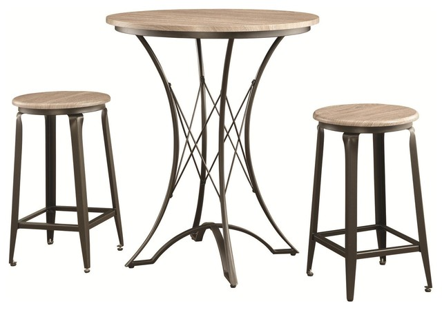 3 piece counter height table set with stools