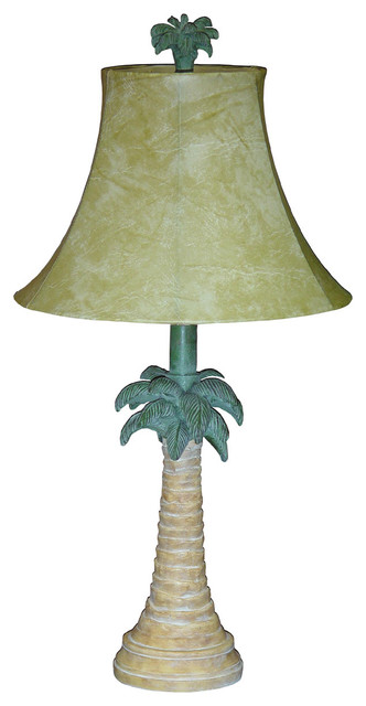 Tropical Palm Tree Table Lamp With Shade Tropical