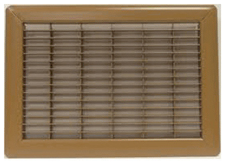 "Ameriflow Return Air Grille, Brown, 10""x12""."