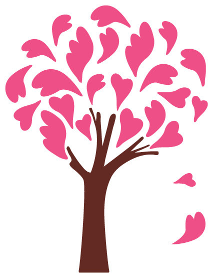 Heart Tree Stencil For Painting Contemporary Wall Stencils By My Wonderful Walls