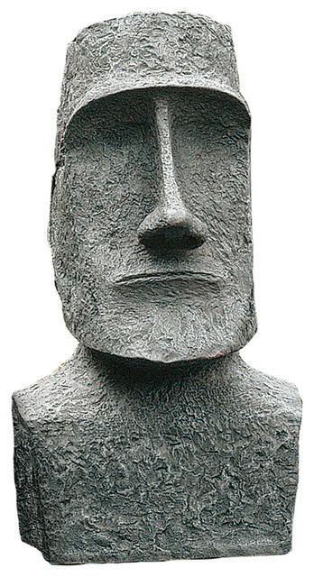 Large Easter Island Moai Head