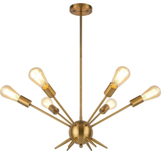 86f3259f52392 6 Lights Pendant Light Brass Plated