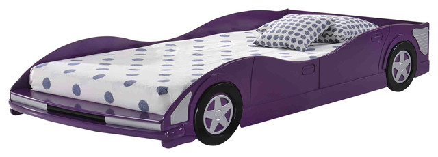 Donco Kids Race Car Bed, Purple, Twin.