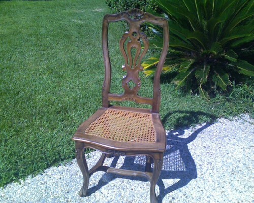 & Cane bottom dining chairs-- need ideas on how to change them!