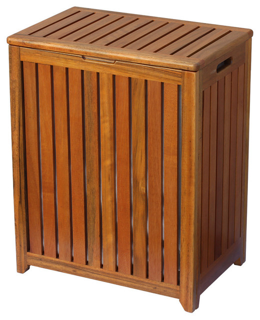Oceanstar Solid Wood Spa Hamper.