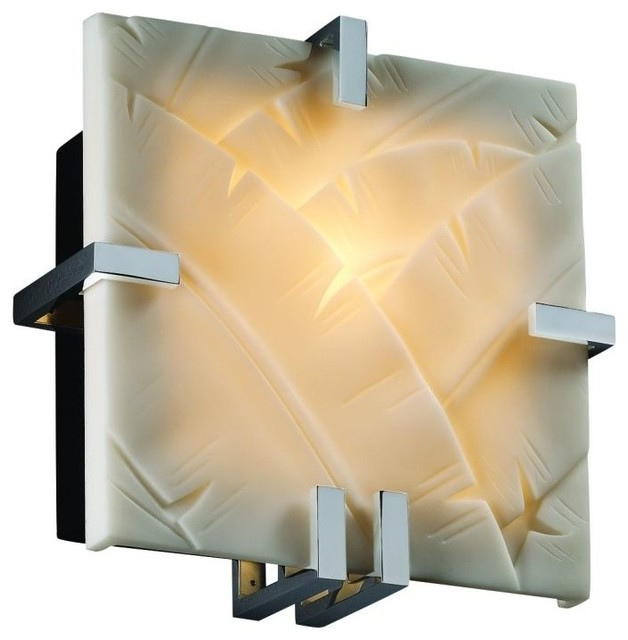 Design Clips 1 Light Square Wall Sconce