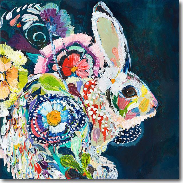 """""""white Rabbit"""" Artwork By Starla Michelle Halfmann, 12""""x12""""."""