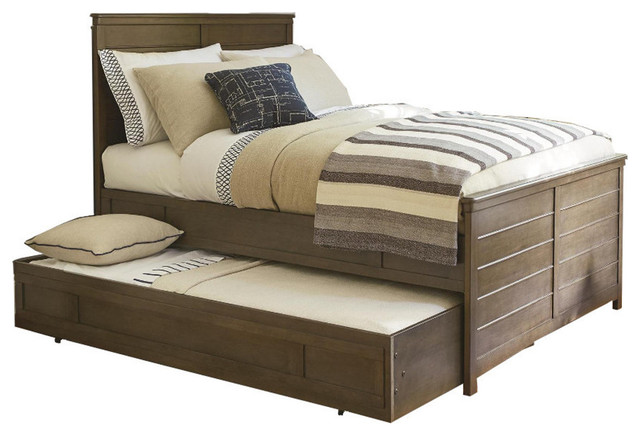 Universal Smartstuff Varsity Reading Bed with Trundle in Jersey, Full