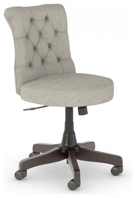 Key West Mid Back Tufted Office Chair, Light Gray Fabric