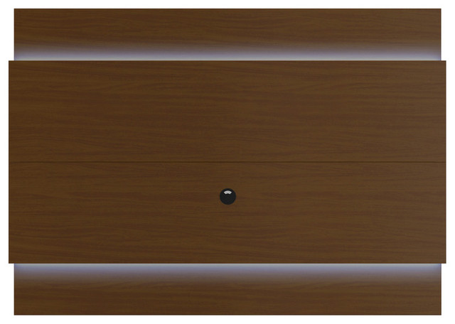 Lincoln Floating Wall Tv Panel 1.9 With Led Lights, Nut Brown.