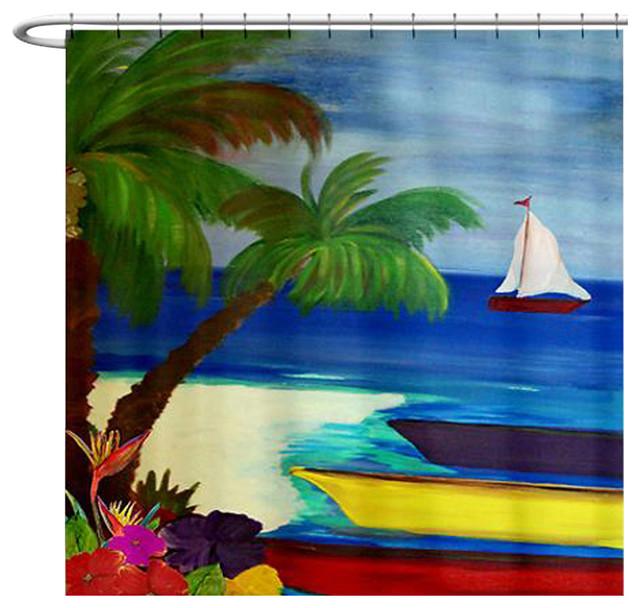 Bay Boats Shower Curtain