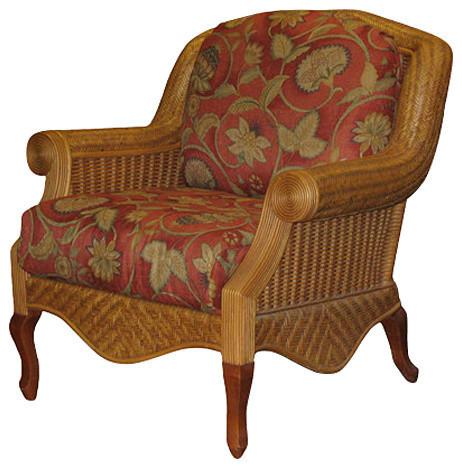Palm Beach Arm Chair In Cinnamon Adobe Fabric Tropical
