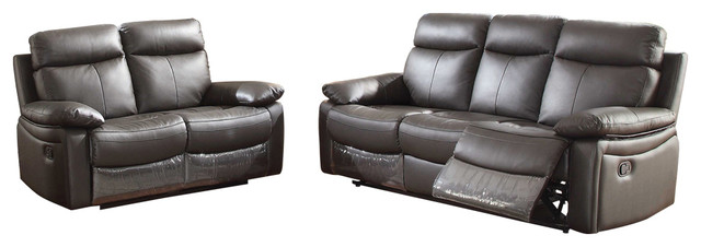 Ryker 2 Piece Leather Living Room Set With Reclining Sofa