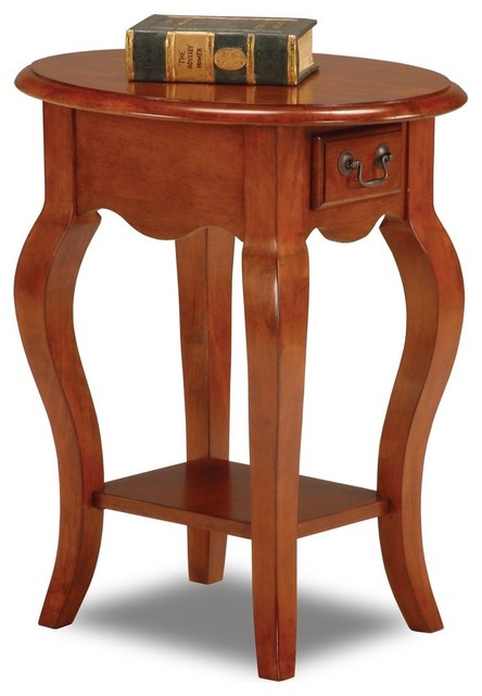 Shop Houzz Leick Home Leick Furniture French Oval End Table Side Tables And End Tables