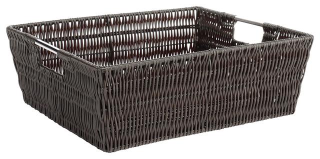 Whitmor Rattique Tote Espresso Tropical Baskets By