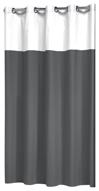 Extra Long Hookless Shower Curtain 72x78 Sealskin Doppio