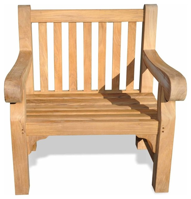 Teak Hyde Park Chair By Regal Outdoor Lounge Chairs Great Garden Supply