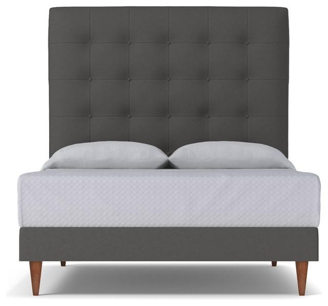 Palmer Upholstered Bed, Thunder, Eastern King.