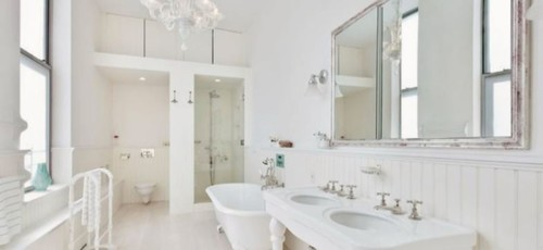 All White Bathroom Design Decoration