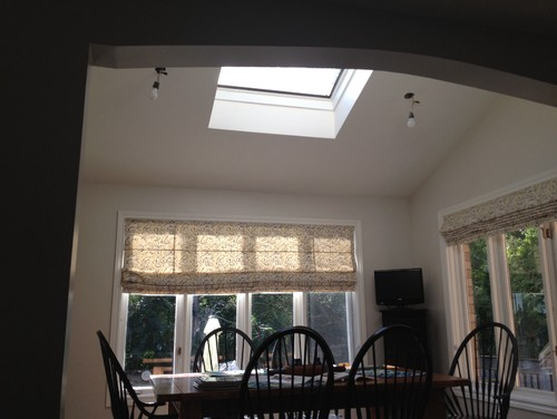 & I need advice on a light fixture in a nook that has a skylight