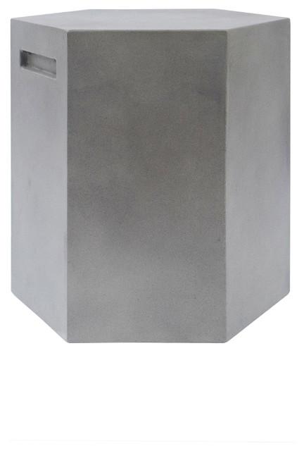 Incredible Modrest Cruz Modern Gray Concrete Stool Inzonedesignstudio Interior Chair Design Inzonedesignstudiocom