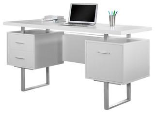 Monarch Specialties Computer Desk 60 Quot Cappuccino Silver