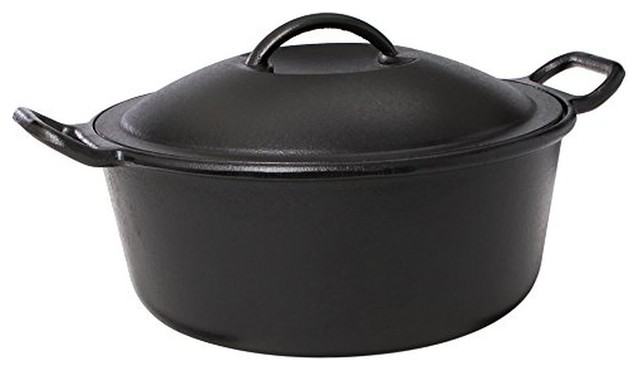 Lodge Pro-Logic P10d3 Cast Iron Dutch Oven, Black, 4 Qt..