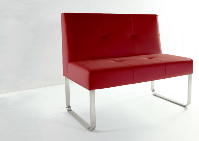 Superb Genoa Raspberry Red Dining Bench With Backrest