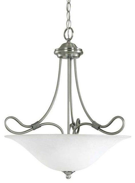 Kichler Stafford 3 Light 18 5 Quot Small Inverted Pendant In
