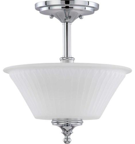 Nuvo Lighting 60/4268 Teller 2 Light Semi-Flush Ceiling Fixture.