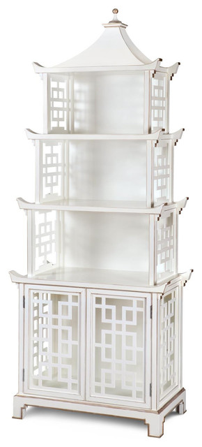 Bungalow 5 Pagoda Shelf White Amp Reviews Houzz