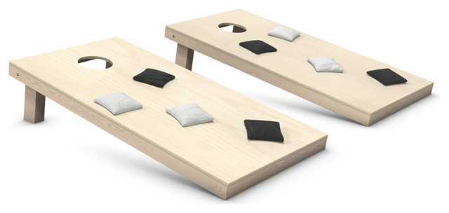 Cornhole Toss Game Set With Bags, Black and White Bags