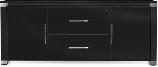 Superb 500 Series Credenza In Black Finish   Office Credenza