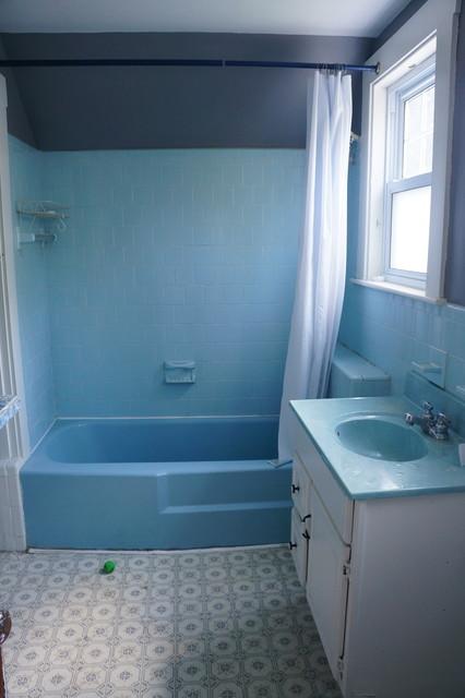 Dramatic Bathroom Makeovers, 70s Bathroom Remodel