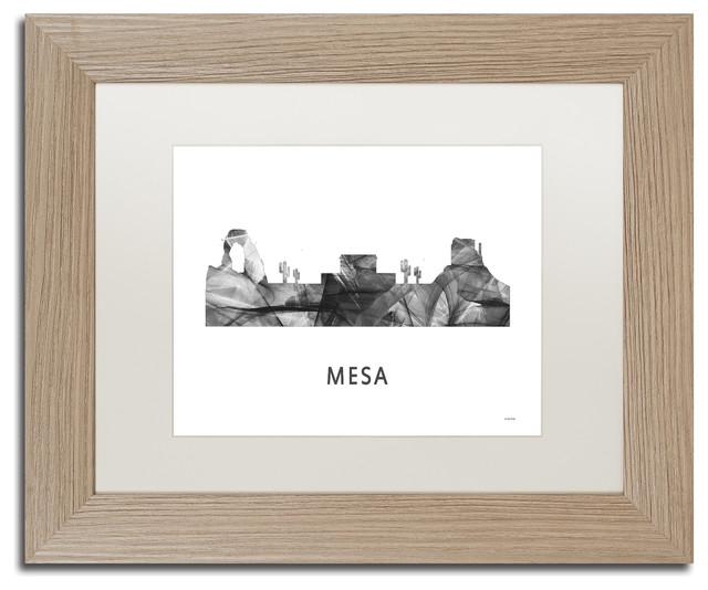 Marlene Watson \'Mesa Arizona Skyline\' Matted Framed Art ...