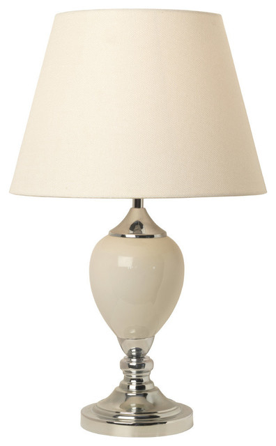 Brewer Ceramic Cream Table Lamp.