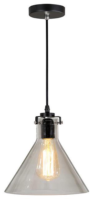 industrial clear glass pendant light lighting