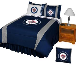 Store51 LLC - NHL Winnipeg Jets Comforter Pillowcase Hockey Bedding & Reviews | Houzz