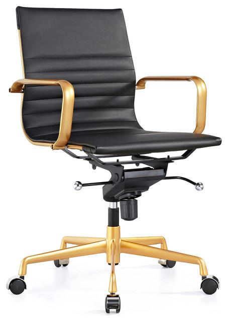 decade modern classic aluminum office chair, set of 2
