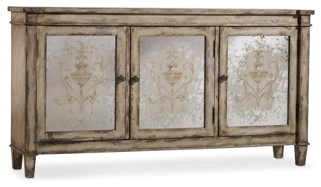 Three Door Mirrored Chest - Farmhouse - Accent Chests And ...