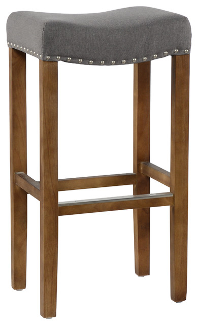 Home Varville Backless Barstool By Kosas Transitional Bar Stools And Counter