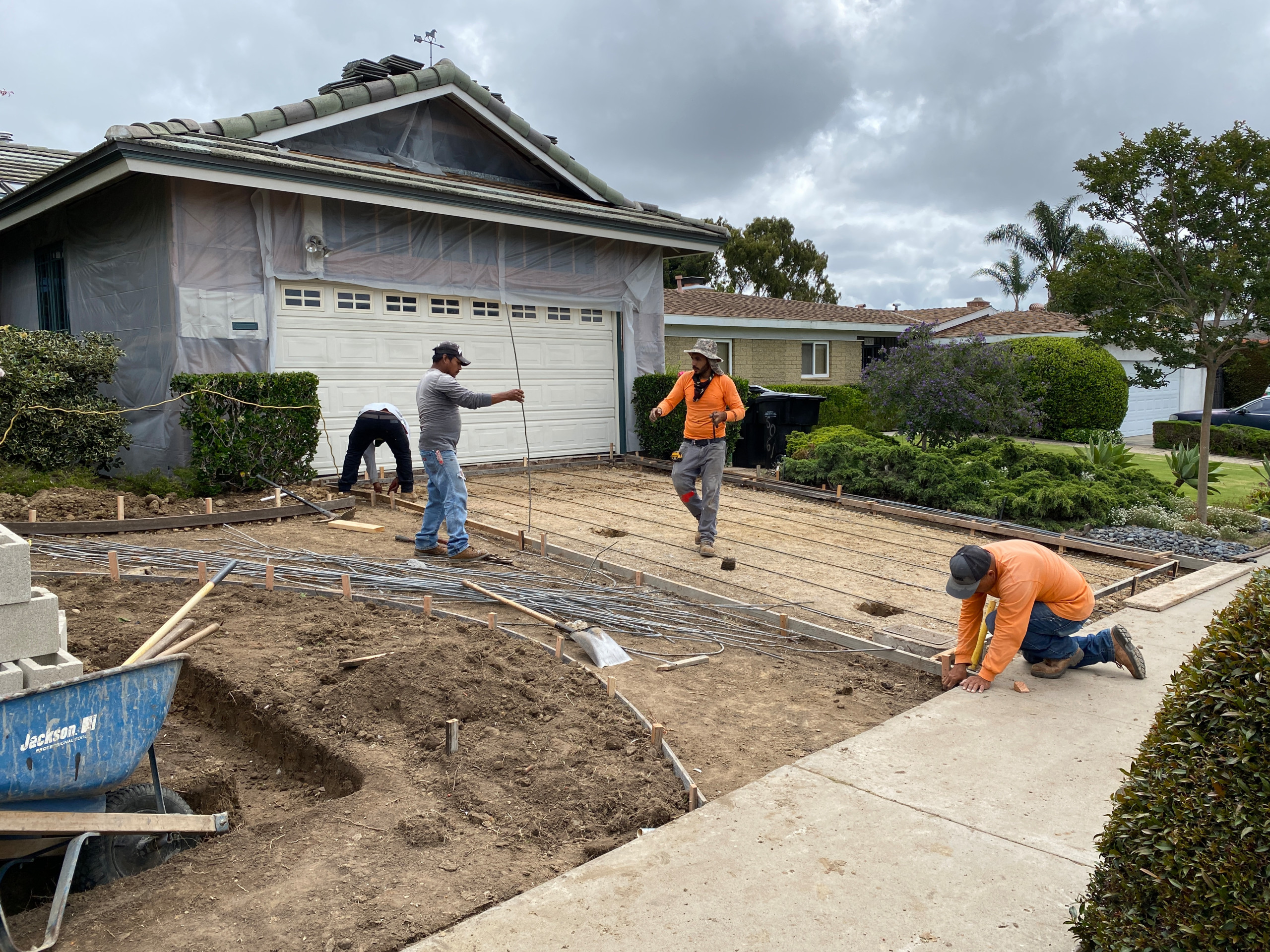 Forming for a New Concrete Driveway