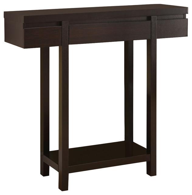 coaster fine furniture coaster entry table in cappuccino
