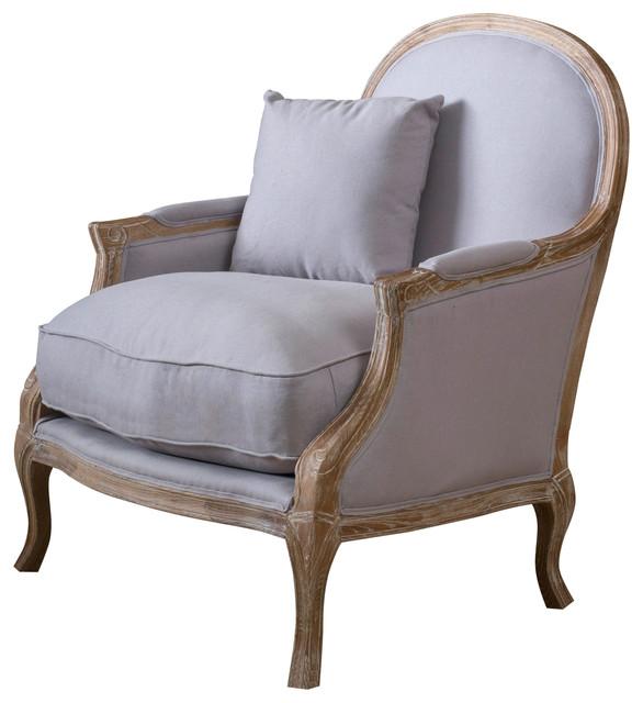 Lennon Weathered Hardwood Fabric Arm Chair Farmhouse
