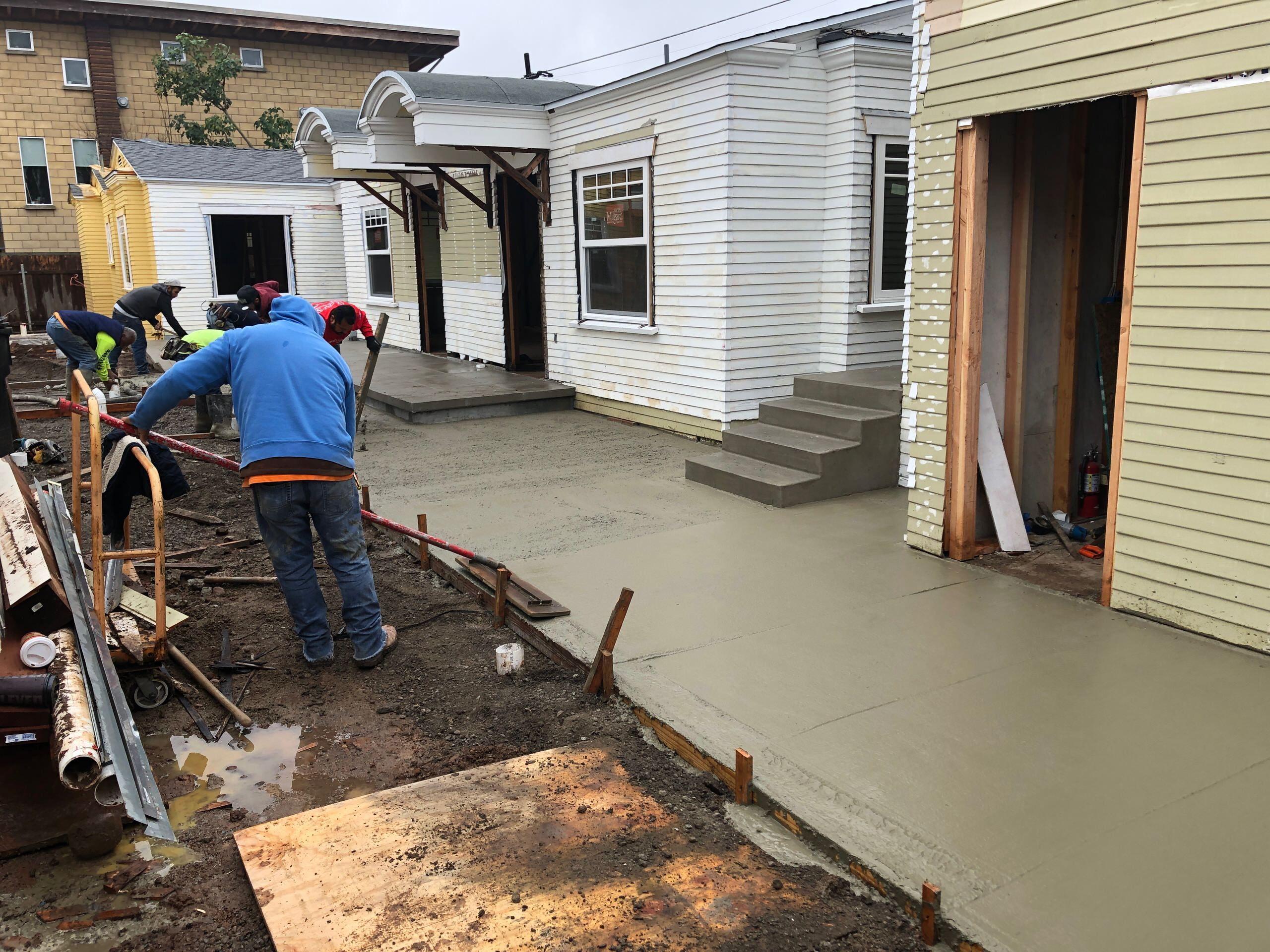 New Concrete Porch and Walkways