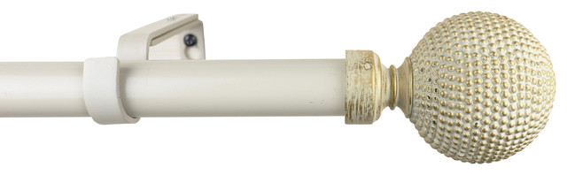 Urbanest 1 Diameter Giato Curtain Rod, 84-120, Gilded French White.