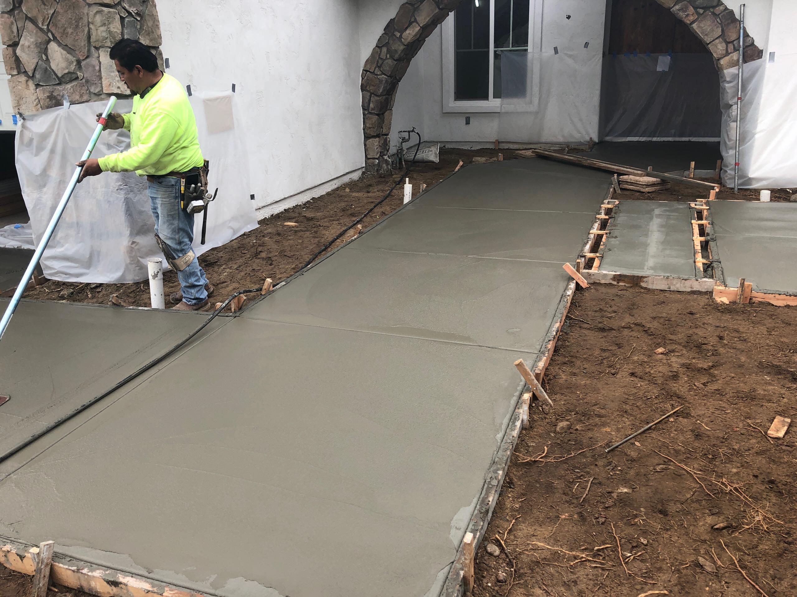 Pouring a New Concrete Sidewalk