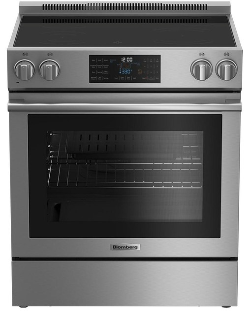 Blomberg 30 Freestanding Electric Range With 4 Elements & 12 Oven Functions.