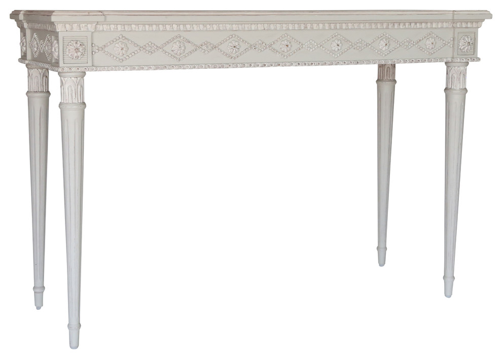 Aria Console Swedish Gray French Country Console Tables By Ave Houzz