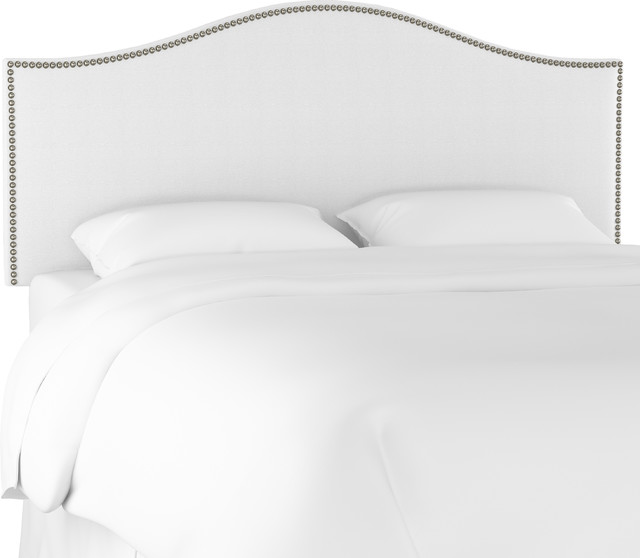 Nail On Headboard In Twill White
